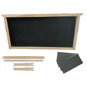 Beekeeping Kit Full Depth Deep Frame and Plastic Foundation