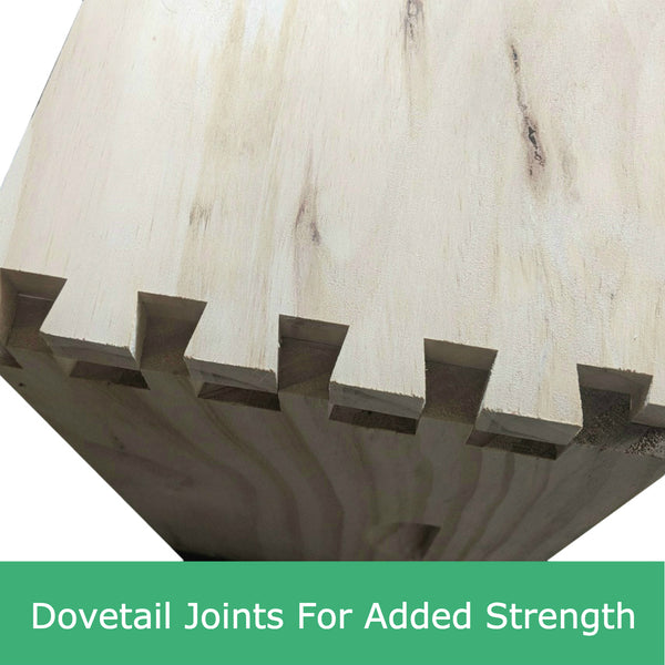 8 Frame Full Depth Deep Super Box - Flat Pack - Dovetail Joints