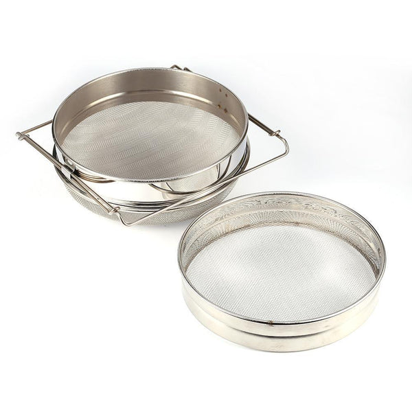 Stainless Steel Double Honey Strainer