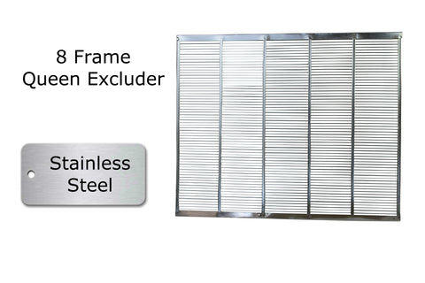 8 frame stainless steel queen excluder eight frame