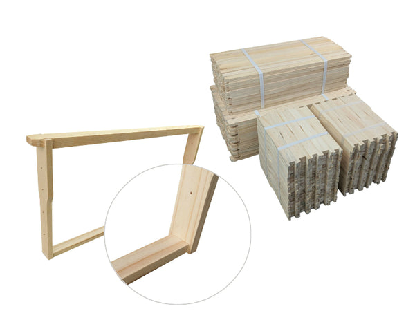 Timber Beekeeping Frames Flat bottom Bar Full Depth