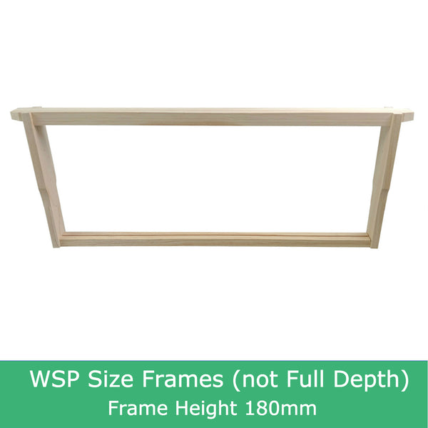 WSP size beekeeping frames frame bee hive NZ Pine