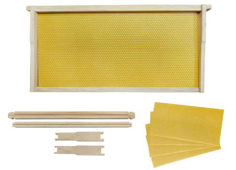 Bulk Buy - 100 x Full Depth Beekeeping Frames With Yellow Plastic Foundation