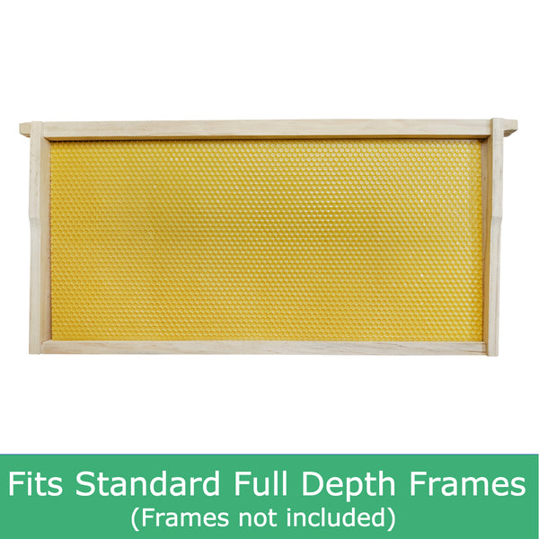 Plastic Beekeeping Foundation - Full Depth - Yellow Colour