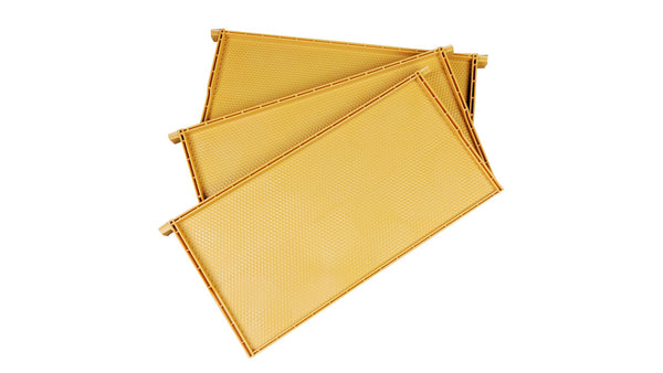 Yellow Plastic Beehive Frames - Full Depth Langstroth Frames for Deep Hive