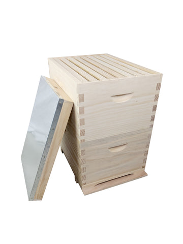 Beehive Kit Complete Double 16 Frames Bee Hive