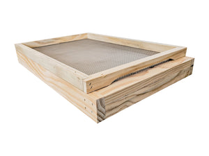 8 Frame Beehive Base ventilated screened mesh with drawer