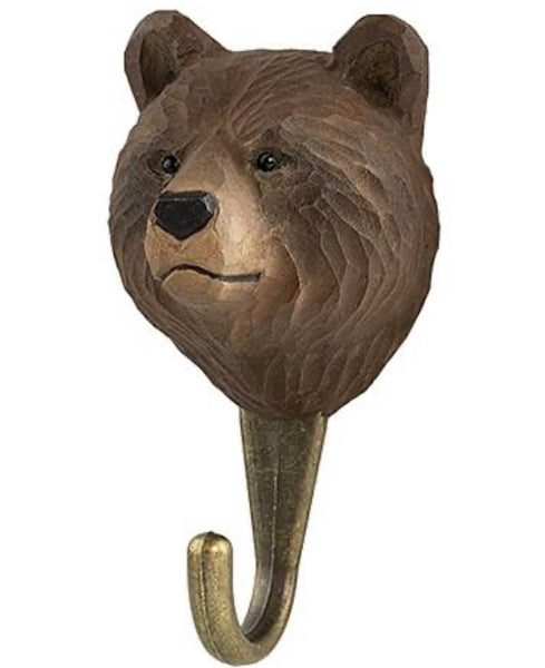 Wooden Hook Bear
