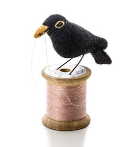 Felt Black Bird on Bobbin