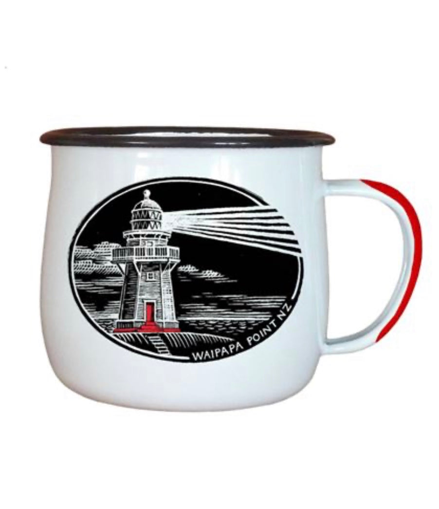 NZ Enamel Lighthouse Mug