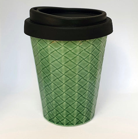 Ceramic Coffee Cup Weave - Jade