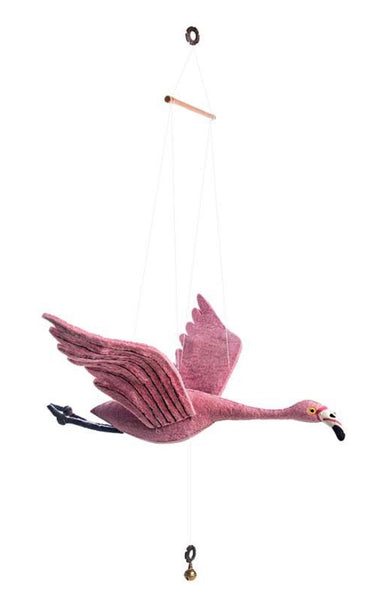 Felt Flamingo Mobile