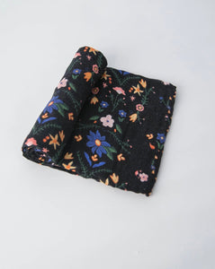 Cotton Swaddle - Midnight Garden