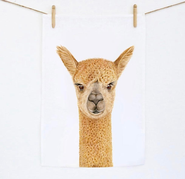 Tea Towel Alpaca
