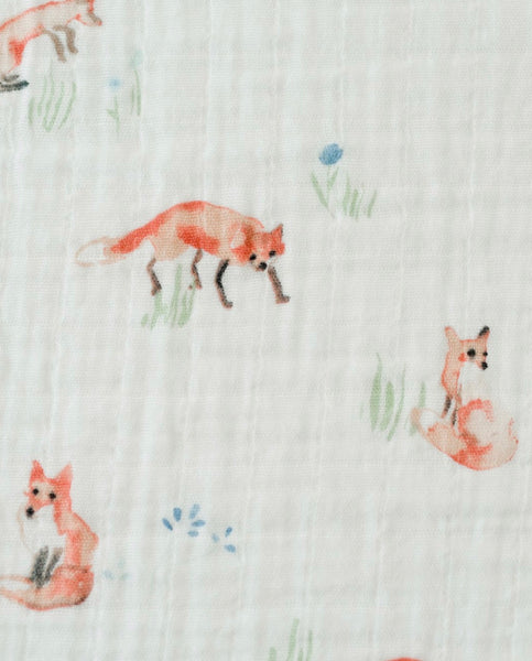 Cotton Swaddle - Foxes