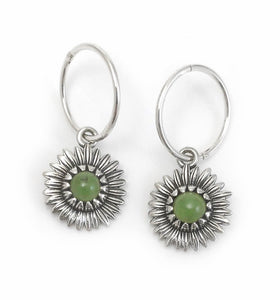 Nvk Greenstone Daisy Earrings