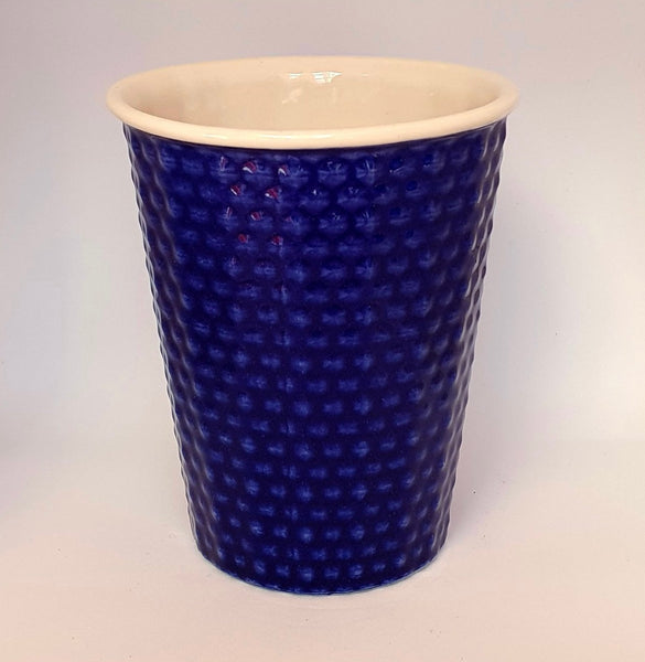 Ceramic Coffee Cup dimple - Cobolt