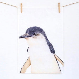 Tea Towel - Blue Penguin