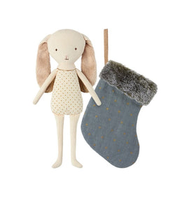 Maileg Bunny Angel with Stocking - Blue