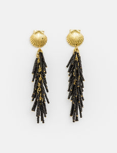 Stella + Gemma Black Reef Beads Earrings