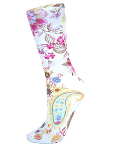 CS Couture Trouser Socks - Tropical Paisley