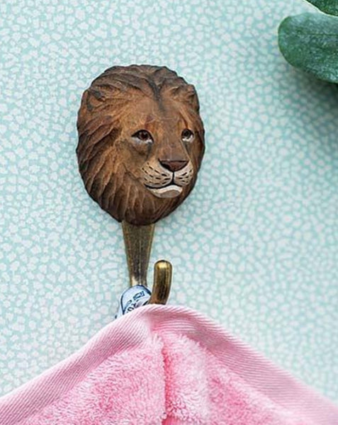 Wooden Lion Hook