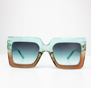 Happy To Sit On Your Face Sunglasses - Harlow Turquoise