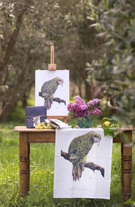 Wildgreyfox Tea Towel - Kakapo