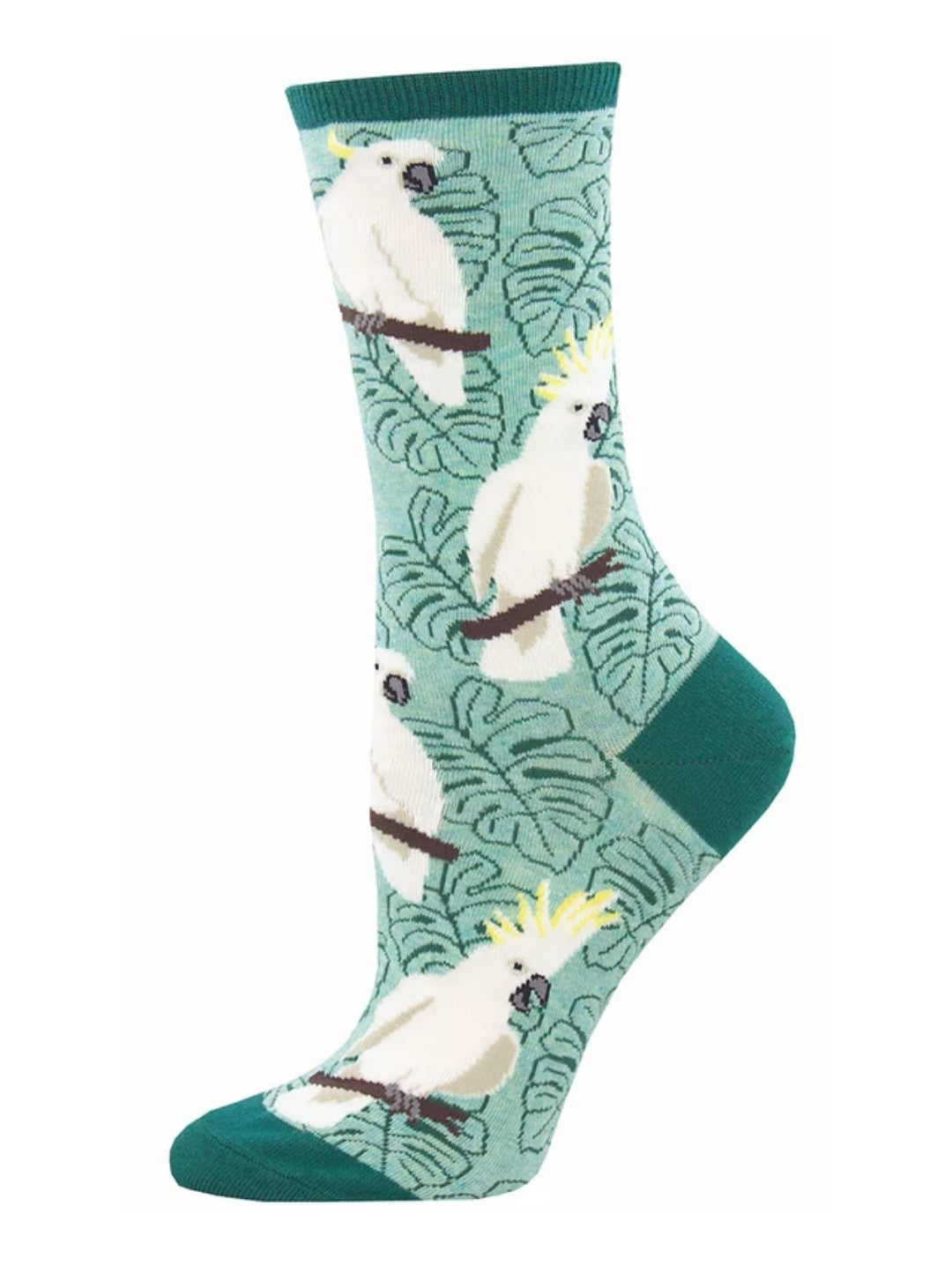Socks - Womens - Cockatoo - Green