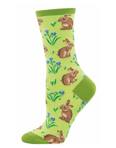 Socks - Womens - Relaxed Rabbit - Green