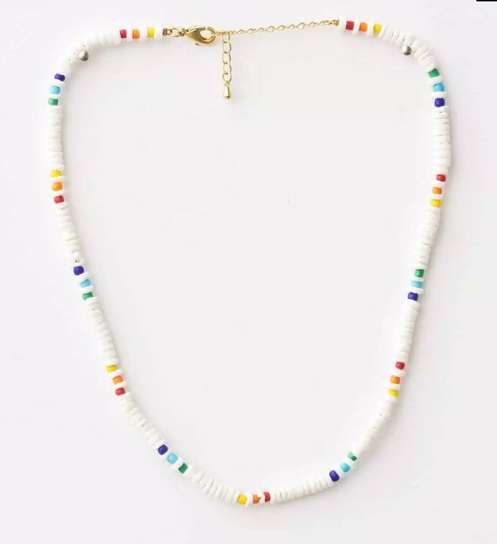 S&G Necklace - Rainbow Disc
