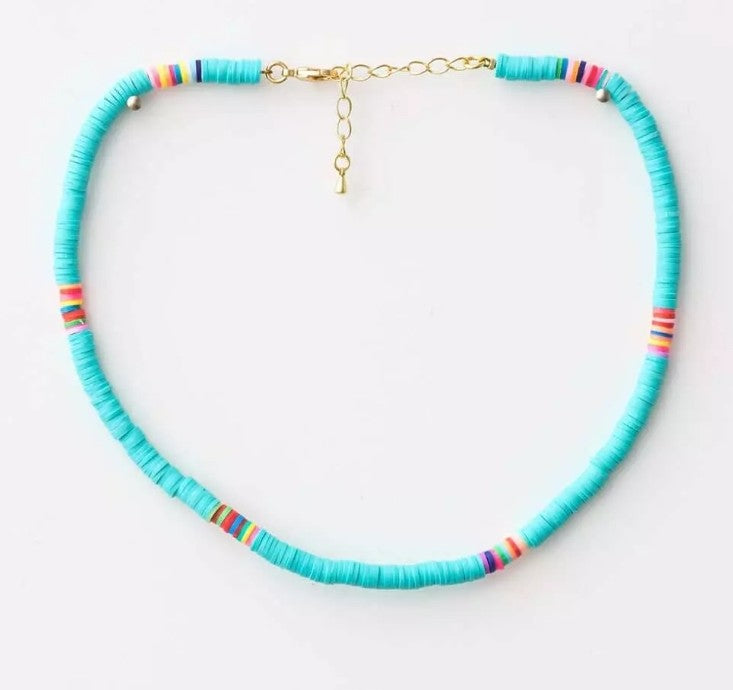 S&G Necklace - Turquoise Disc