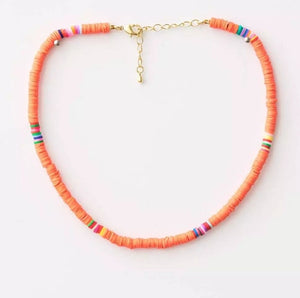 S&G Necklace - Coral disc