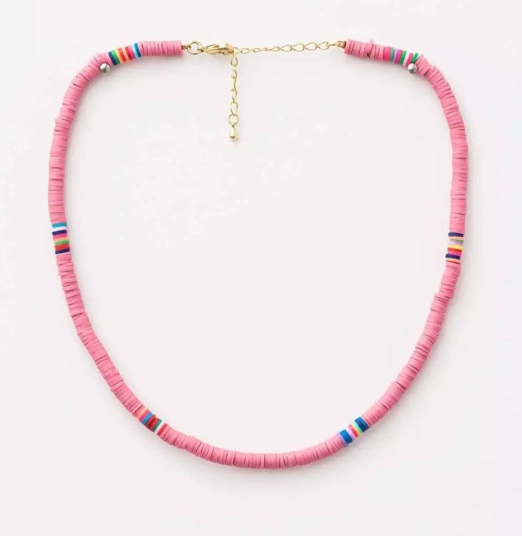 S&G Necklace - Candyfloss disc