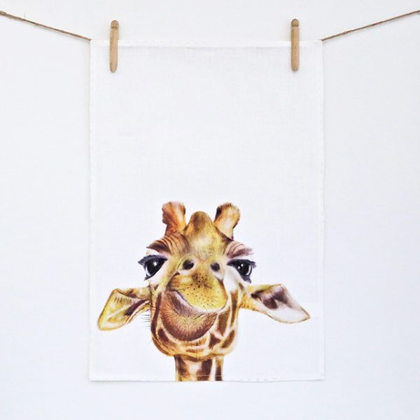 Tea Towel – Toby the Giraffe