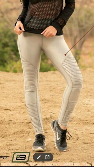 Wrinkled Brandfit Leather effect legging