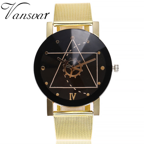 Wrist Watch / Casual Quartz Stainless Steel Band Marble Strap Watch Analog Wrist Watch