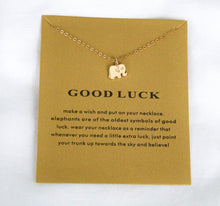 Load image into Gallery viewer, Gold Elephant Pendant