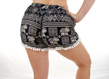 Load image into Gallery viewer, Imperial Pom-pom Elephant Shorts-Black