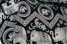Load image into Gallery viewer, Tribal Elephant Pants-Black