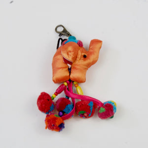 Elephant Pom-Pom Key Chain