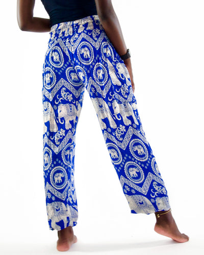 Tribal Elephant Pants- Blue