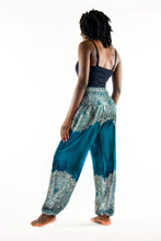 Load image into Gallery viewer, Dream Catcher Elephant Pants-Teal