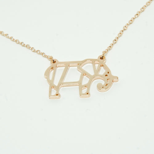 Rose Gold Elephant Necklace