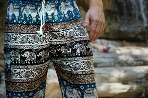 Emerald Elephant Pants-Dark Blue
