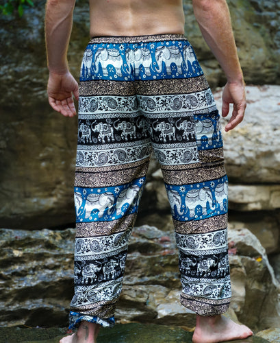 Emerald Elephant Pants-Blue