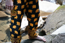 Load image into Gallery viewer, Golden Elephant Pants-Black
