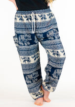 Load image into Gallery viewer, Midnight Elephant Pants-Navy
