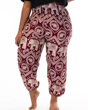 Load image into Gallery viewer, Tribal Elephant Pants-Red