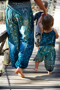 Kid's Size Peacock Pants-Teal